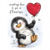 Wild Rose Studio - Penguin with Heart – Clear Stamp – CL524